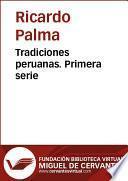 Libro de Tradiciones Peruanas I