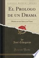Libro de El Prologo De Un Drama