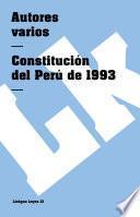 Libro de Constitución Del Perú De 1993