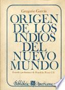Libro de Origen De Los Indios Del Nuevo Mundo