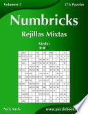 Libro de Numbricks Rejillas Mixtas   Medio   Volumen 3   276 Puzzles