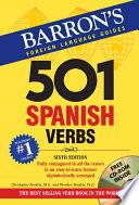 Libro de Five Hundred And One Spanish Verbs
