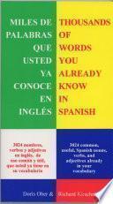 Libro de Miles De Palabras Que Ya Conoce En Inglés