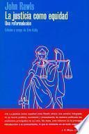 Libro de La Justicia Como Equidad