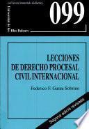 Libro de Lecciones De Derecho Procesal Civil Internacional