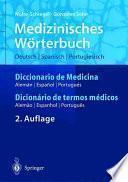 Libro de Medizinisches Wörterbuch/diccionario De Medicina/dicionério De Termos Médicos