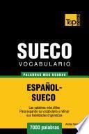 Libro de Vocabulario Español Sueco   7000 Palabras Más Usadas