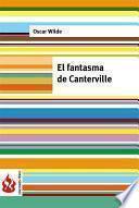 Libro de El Fantasma De Canterville (low Cost). Edición Limitada