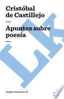 Libro de Apuntes Sobre Poesía