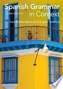 Libro de Spanish Grammar In Context