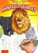 Libro de Dibujo Y Pinto Animales Salvajes