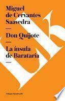 Libro de Don Quijote. La ínsula De Barataria