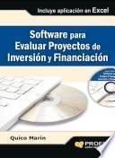 Libro de Software Para Evaluar Proyectos De Inversión Y Financiación