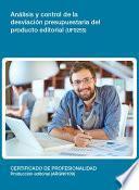 Libro de Uf0255   Análisis Y Control De La Desviación Presupuestaria Del Producto Editorial