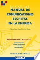 Libro de Manual De Comunicaciones Escritas En La Empresa