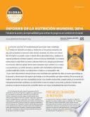Libro de Sinopsis: Informe De La Nutrición Mundial 2014