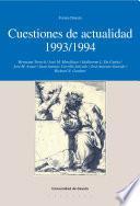 Libro de Cuestiones De Actualidad 1993/1994