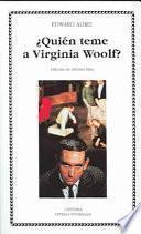 Libro de ¿quién Teme A Virginia Woolf?