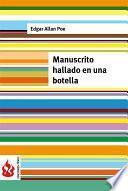 Libro de Manuscrito Hallado En Una Botella (low Cost). Edición Limitada