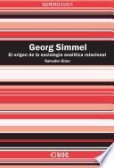 Libro de Georg Simmel. La Fundación De La Sociología Analítica