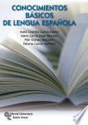 Libro de Conocimientos Básicos De Lengua Española