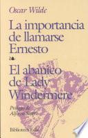 Libro de La Importancia De Llamarse Ernesto, El Abanico De Lady Windermere