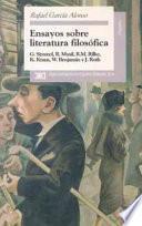 Libro de Ensayos Sobre Literatura Filosófica
