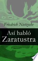 Libro de Así Habló Zaratustra