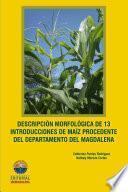 Libro de Descripción Morfológica De 13 Introducciones De Maíz Procedente Del Departamento Del Magdalena