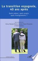 Libro de La Transition Espagnole, 40 Ans Après