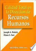 Libro de Calidad Total En La Dirección De Recursos Humanos