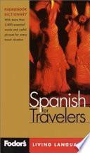 Libro de Fodor S Spanish For Travelers