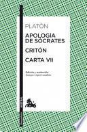 Libro de Apología De Sócrates / Critón / Carta Vii