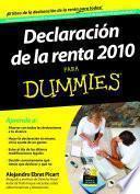 Libro de Declaración De La Renta 2010 Para Dummies