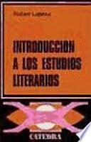 Libro de Introducción A Los Estudios Literarios