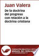 Libro de De La Doctrina Del Progreso Con Relación A La Doctrina Cristiana