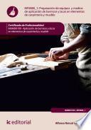 Libro de Preparación De Equipos Y Medios De Aplicación De Barnices Y Lacas En Elementos De Carpintería Y Mueble. Mamd0109