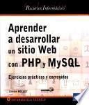 Libro de Aprender A Desarrollar Un Sitio Web Con Php Y Mysql