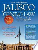 Libro de Jalisco Condo Law In English
