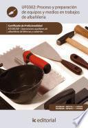 Libro de Proceso Y Preparación De Equipos Y Medios En Trabajos De Albañilería. Eocb0208