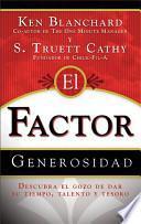 Libro de El Factor Generosidad/ The Generosity Factor