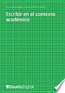 Libro de Escribir En El Contexto Académico
