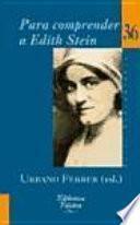 Libro de Para Comprender A Edith Stein