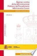 Libro de Régimen Jurídico De Las Administraciones Públicas Y Del Procedimiento Administrativo Común