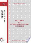 Libro de Lecciones De Antropología Social Y Cultural