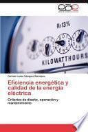 Libro de Eficiencia Energética Y Calidad De La Energía Eléctric