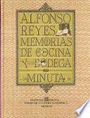 Libro de Memorias De Cocina Y Bodega
