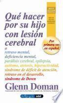 Libro de Qué Hacer Por Su Hijo Con Lesión Cerebral