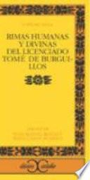 Libro de Rimas Humanas Y Divinas Del Licenciado Tomé De Burguillos