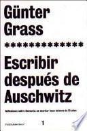 Libro de Escribir Después De Auschwitz